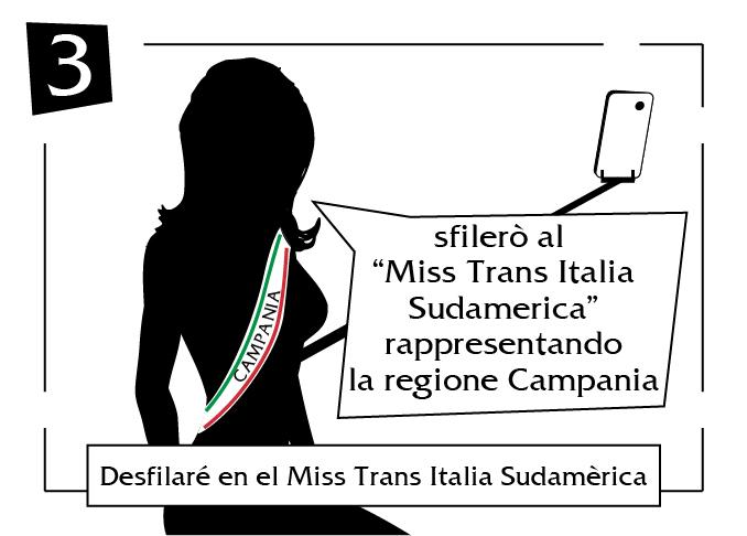 Desfliare en el miss trans italia sudamerica campania