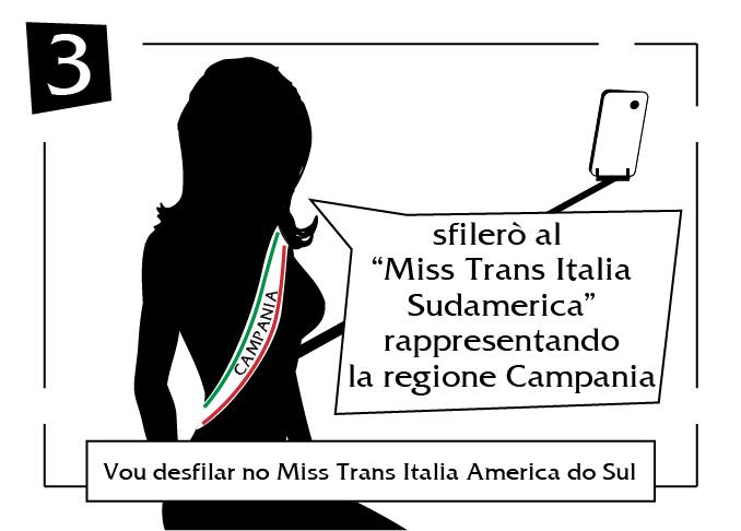 Vou desfilar no miss trans italia america do sul Campania