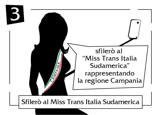 Sfilerò al Miss Trans Italia Sudamerica Campania